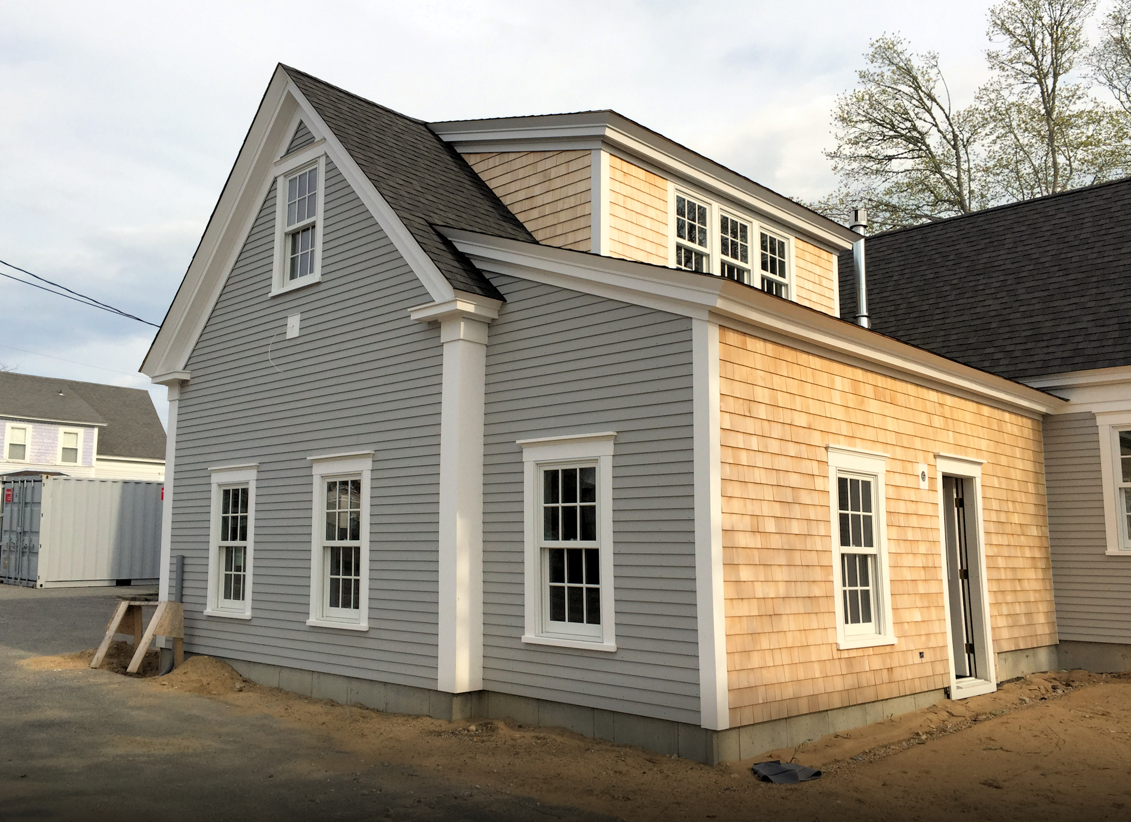 Wood shingle siding installation