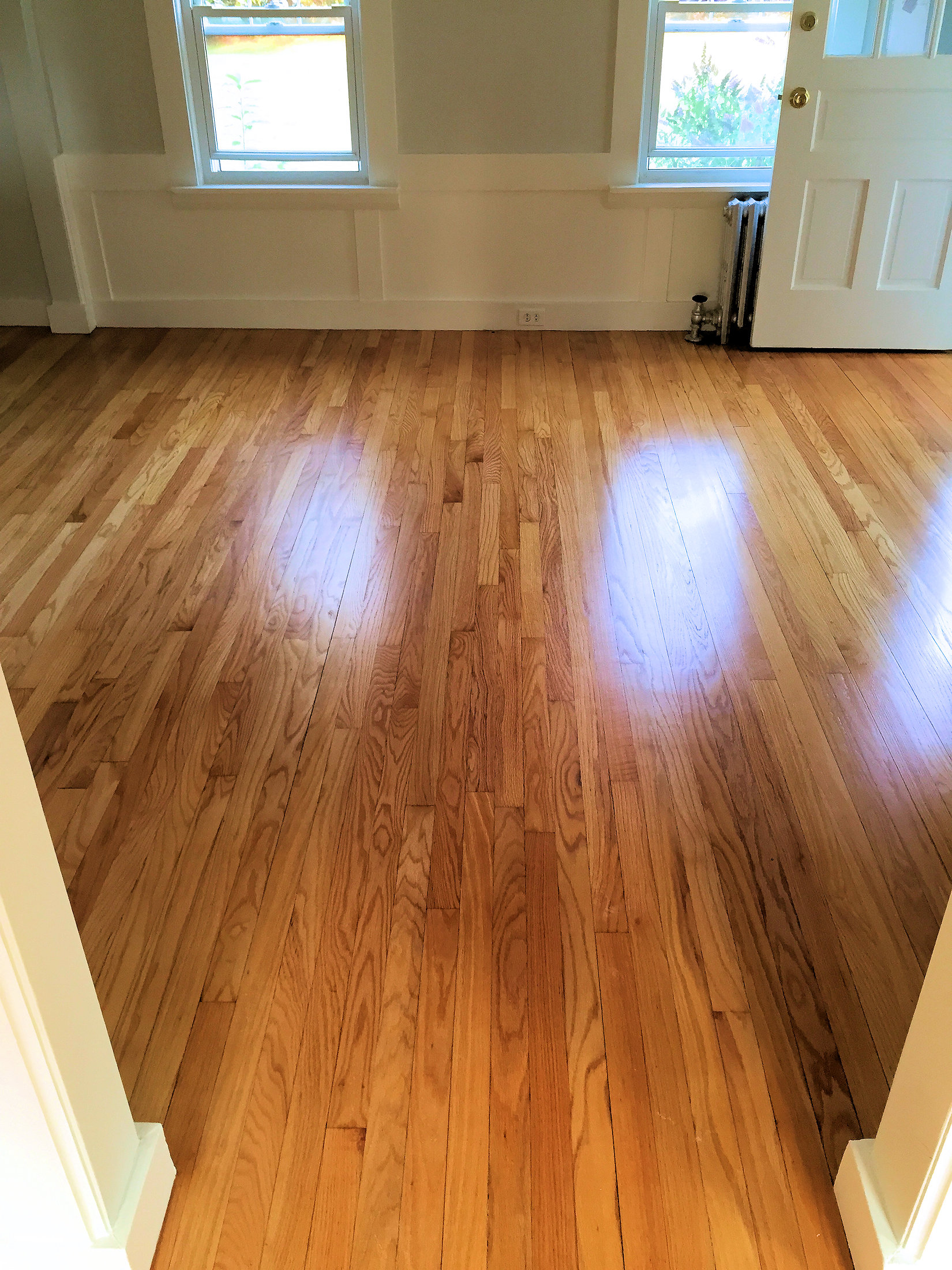 New wood flooring